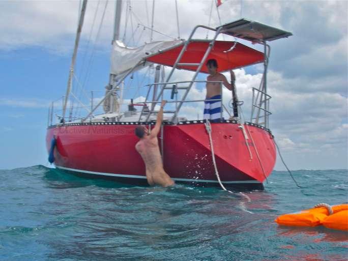naturist 0003 sailing near Merida, Yucatan, Mexico