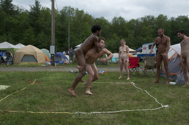 naturist wrestling 0010 FreeForm Festival, Pennsylvania, USA