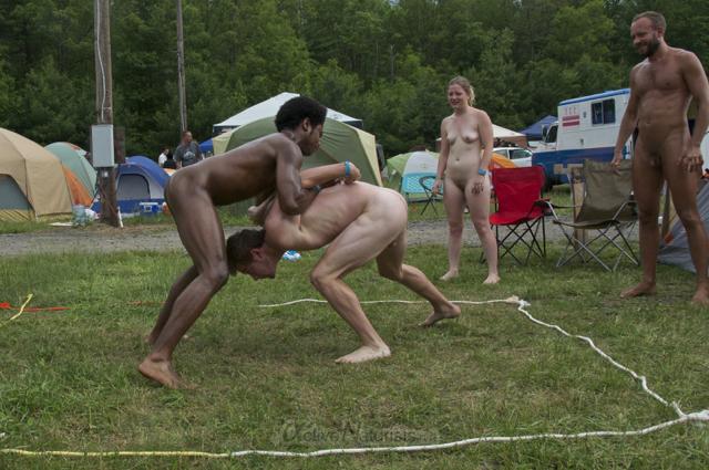 naturist wrestling 0013 FreeForm Festival, Pennsylvania, USA
