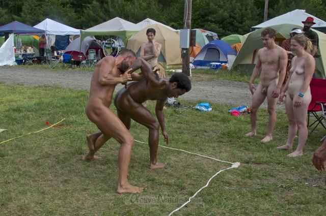 naturist wrestling 0026 FreeForm Festival, Pennsylvania, USA