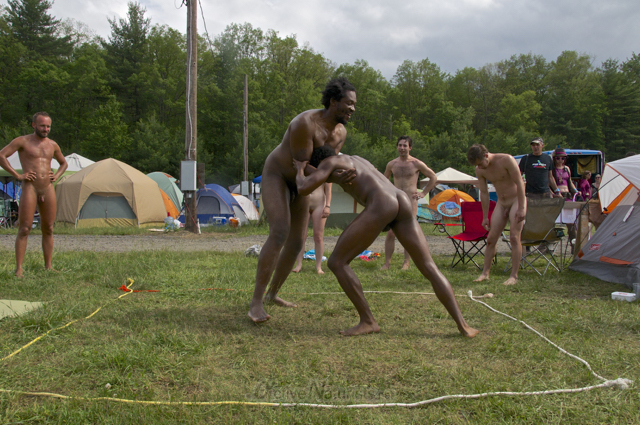 naturist wrestling 0031 FreeForm Festival, Pennsylvania, USA