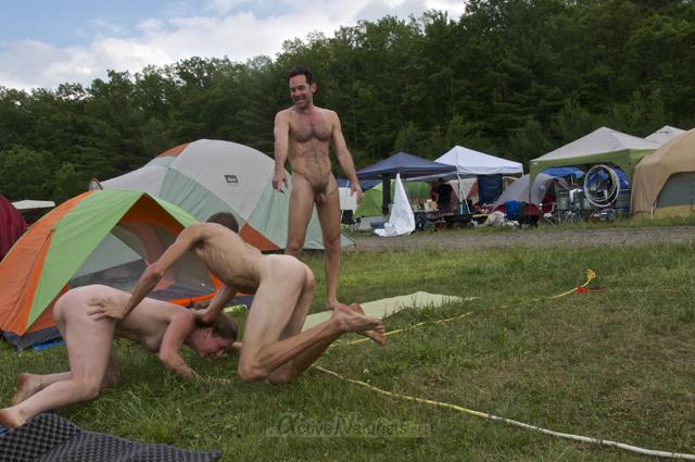 naturist wrestling 0046 FreeForm Festival, Pennsylvania, USA