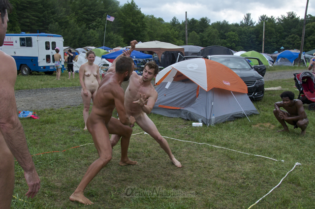 naturist wrestling 0050 FreeForm Festival, Pennsylvania, USA