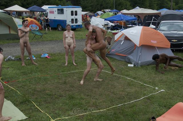 naturist wrestling 0058 FreeForm Festival, Pennsylvania, USA