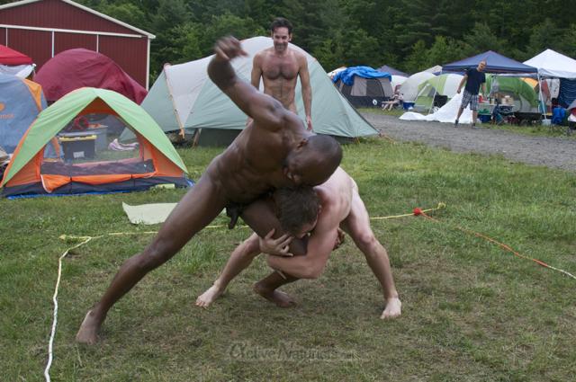 naturist wrestling 0075 FreeForm Festival, Pennsylvania, USA