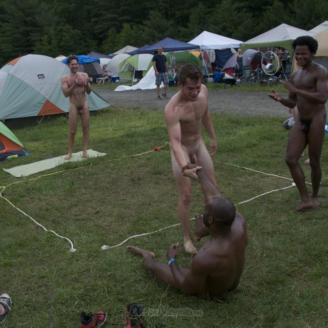 naturist wrestling 0080 FreeForm Festival, Pennsylvania, USA