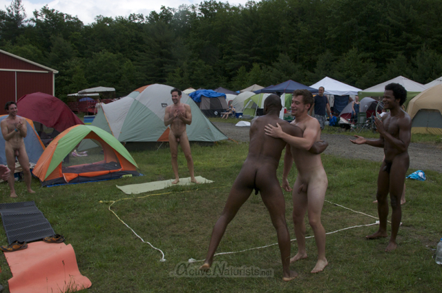 naturist wrestling 0081 FreeForm Festival, Pennsylvania, USA