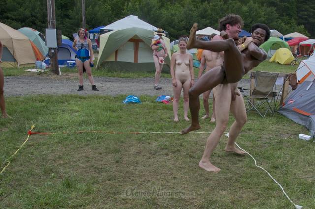 naturist wrestling 0101 FreeForm Festival, Pennsylvania, USA