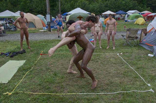 naturist wrestling 0110 FreeForm Festival, Pennsylvania, USA