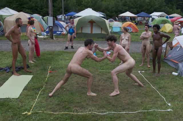 naturist wrestling 0117 FreeForm Festival, Pennsylvania, USA