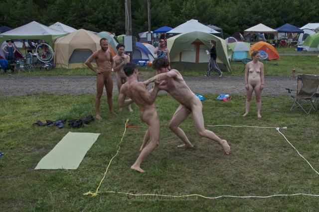 naturist wrestling 0134 FreeForm Festival, Pennsylvania, USA