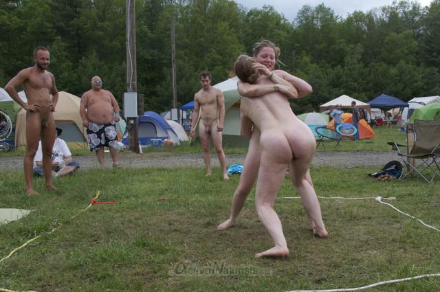 naturist wrestling 0139 FreeForm Festival, Pennsylvania, USA