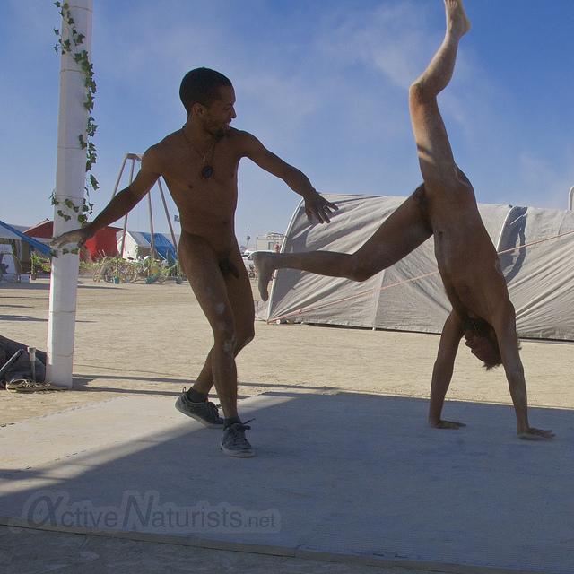 Beach capoeira nudist