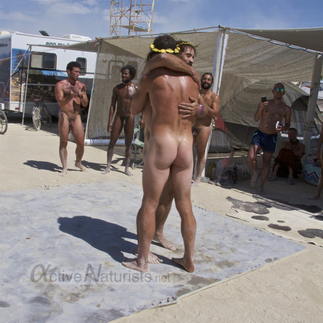 naturist wrestling gymnasium 0039 Burning Man 2015, Black Rock City, Nevada, USA